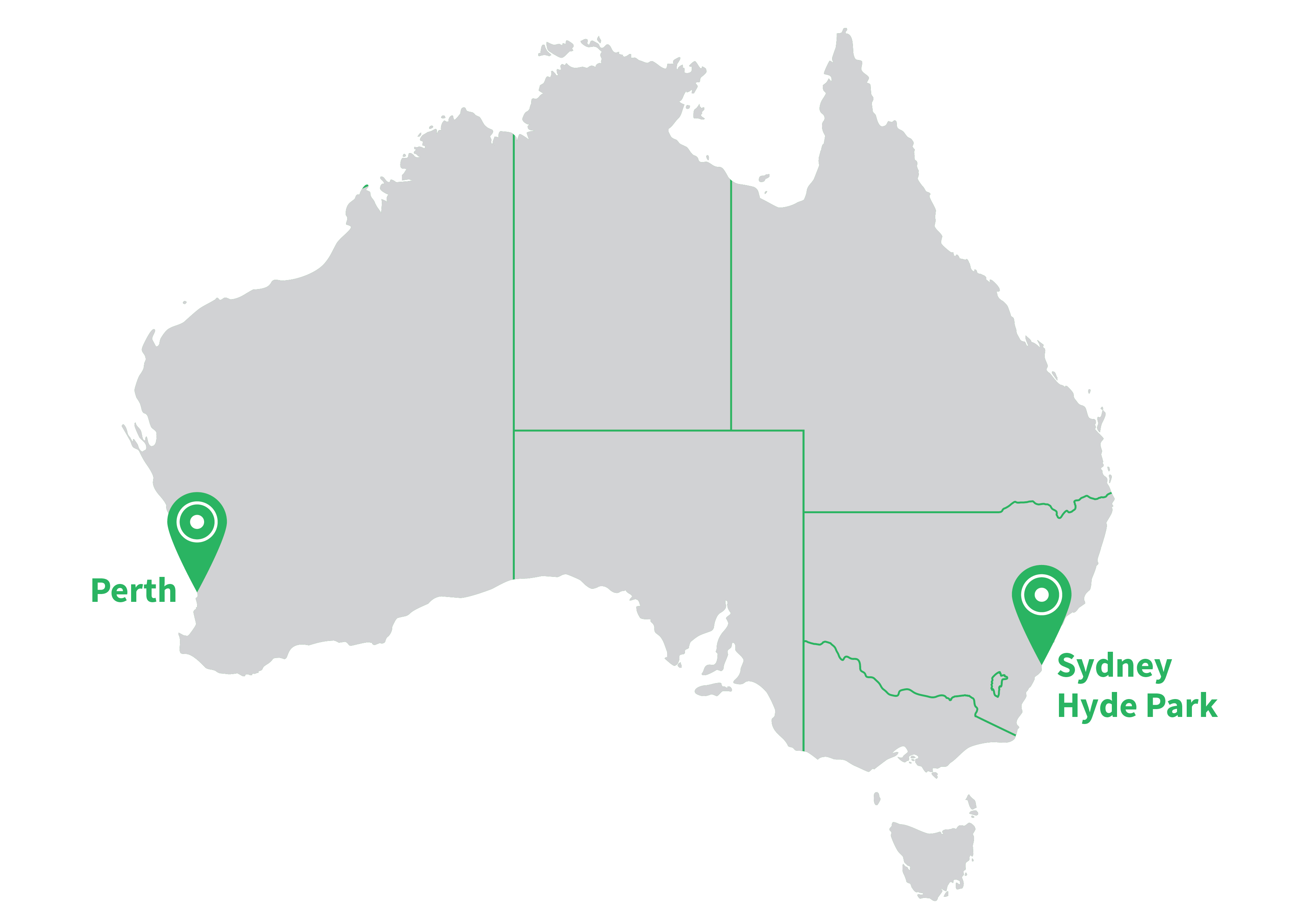 Navitas English Map of Schools in Australia